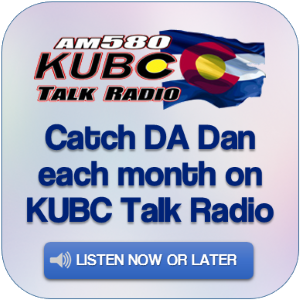 Catch DA Dan each month on KUBC Talk Radio.  Click to listen now or download for later.