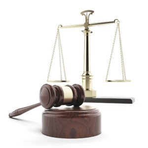 Gavel and scales (clipart)