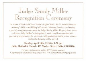Judge Sandy Miller Recognition Ceremony (click for a closer look)