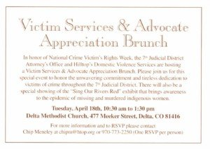 Invitation to National Crime Victims Rights Brunch (click for a closer look)