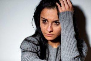 Mujer llorando (foto)