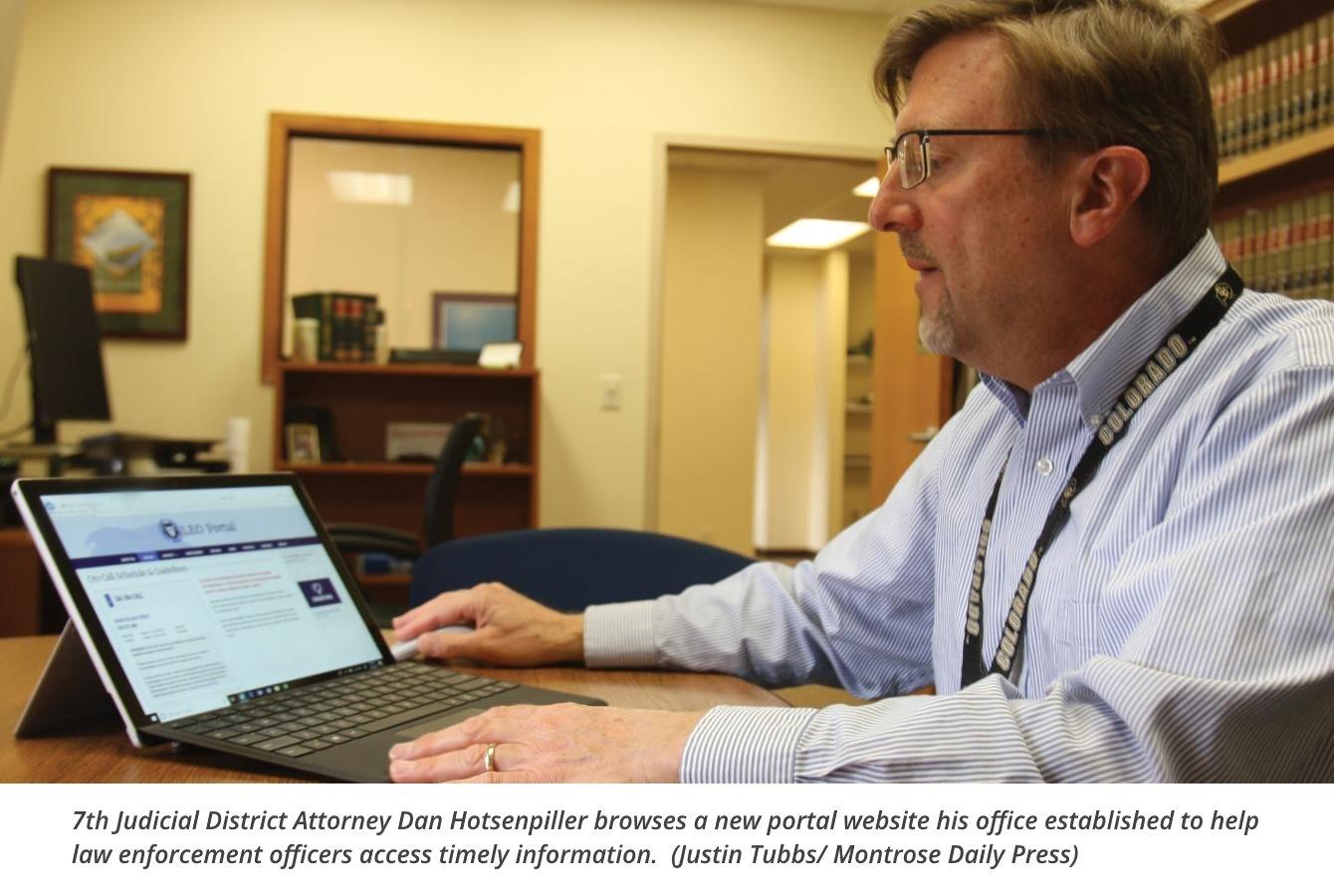 DA's Office Goes High-Tech For Officer Access – 7th Judicial