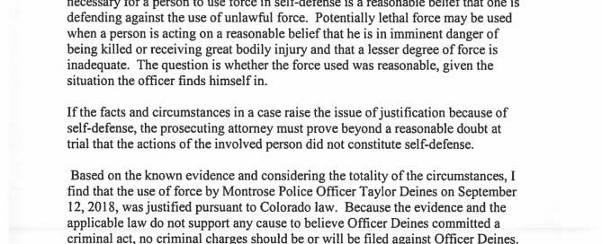 Report Regarding Peace Officer-Involved Shooting Investigation | Page 2