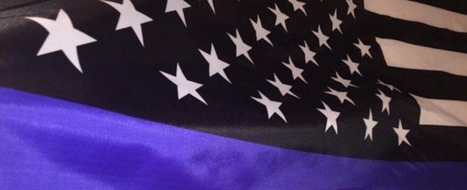 Thin Blue Line Flag Honoring Our Men and Women of Law Enforcement